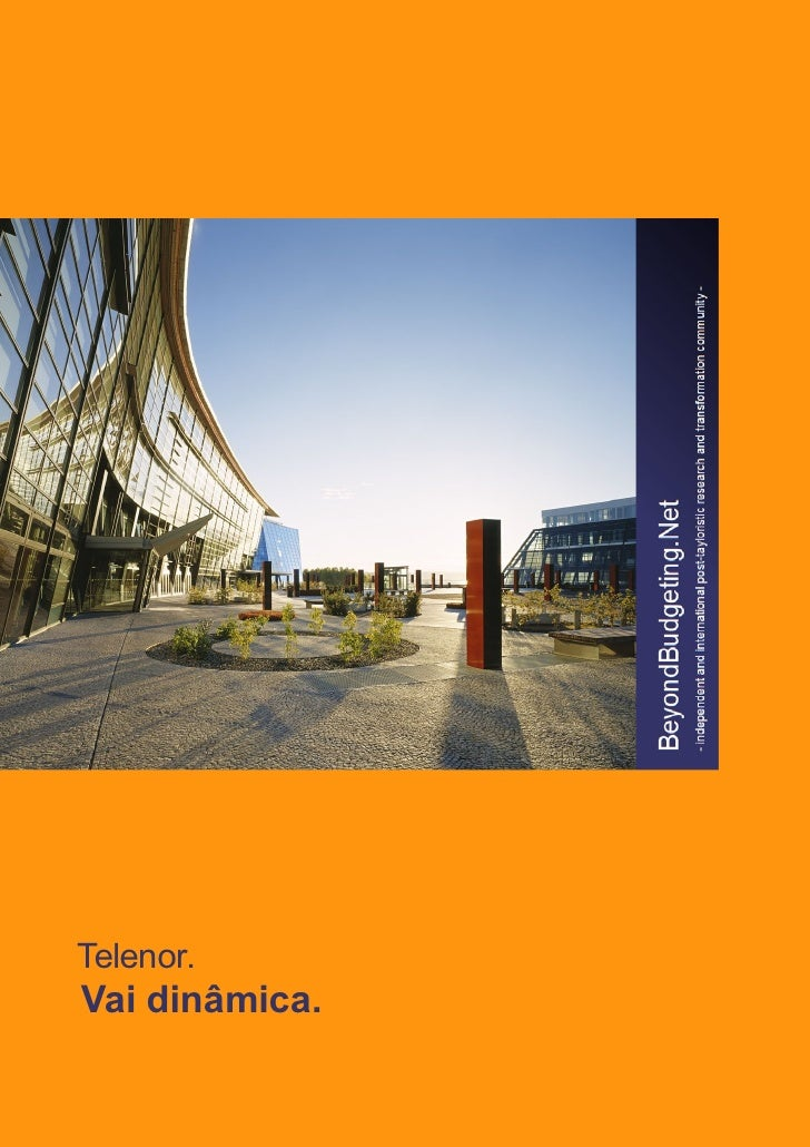 [PO] Beyond Budgeting execução estudo de caso Telenor (Beyond Budgeting Implementation Case Study: Telenor, Portuguese version)
