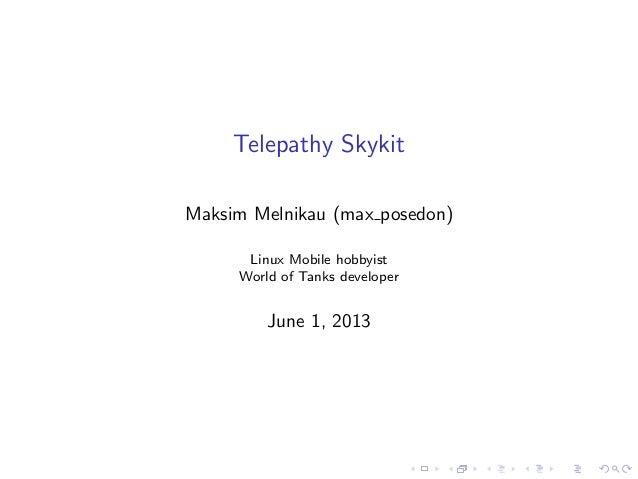 Telepathy Skykit