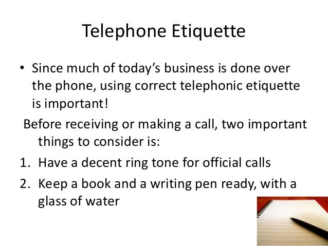 Telephone and email etiquette
