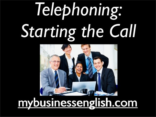 Telephoning in English - Starting the Call
