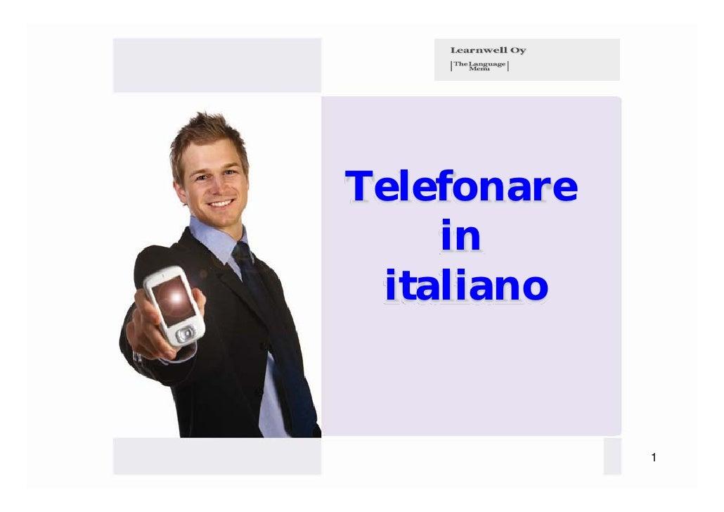 Telefonare    in italiano             1