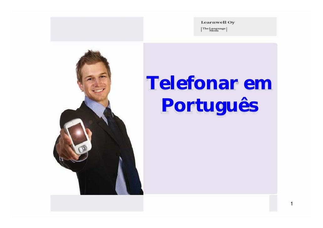 Telefonar em Português               1