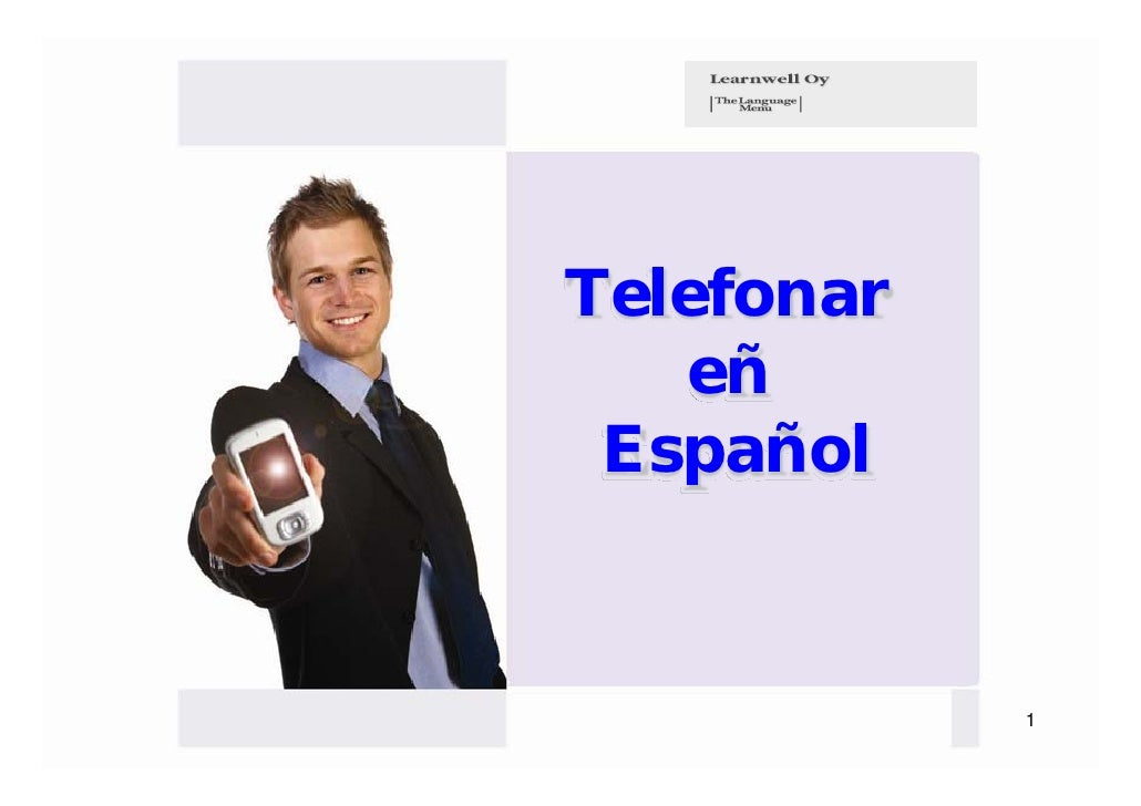 Telefonar   eñ Español            1