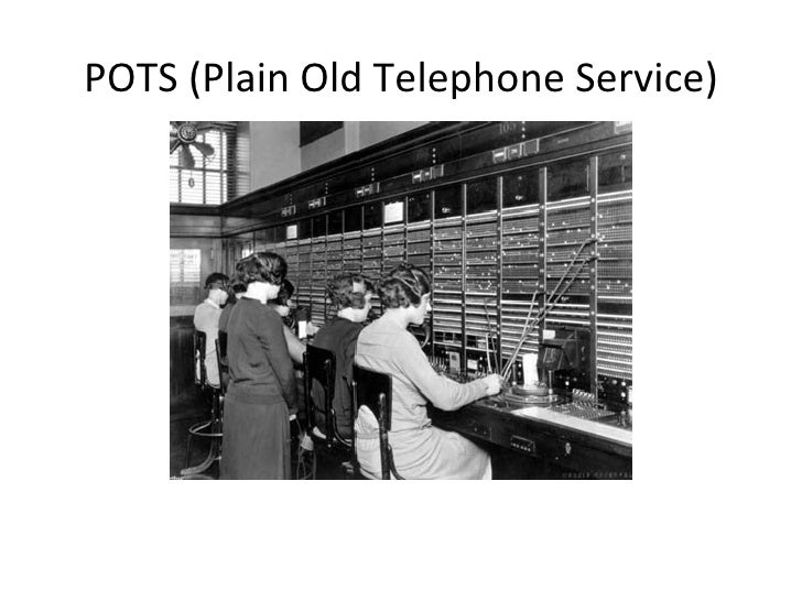 POTS (Plain Old Telephone Service)