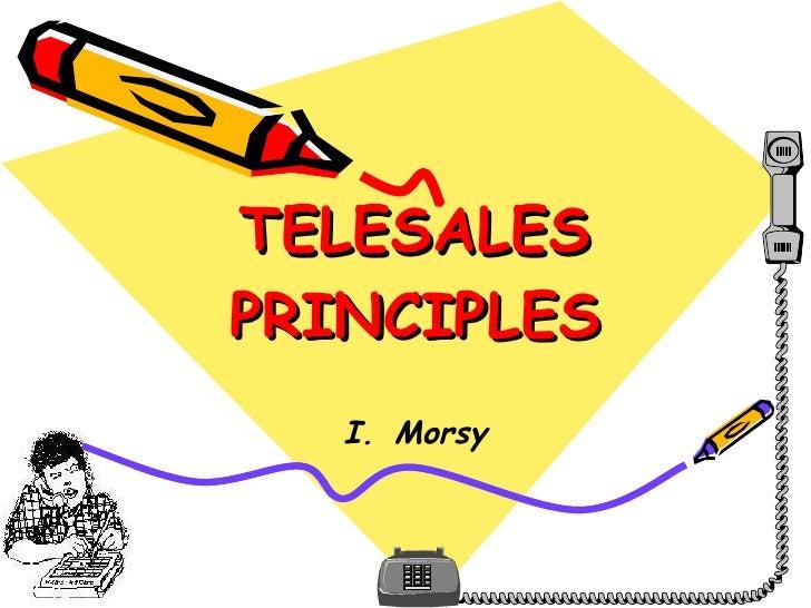 Telesales Principles I