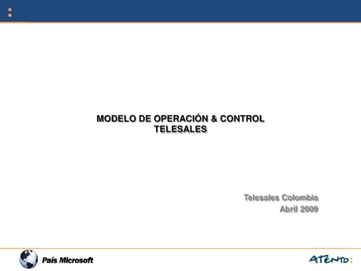 Telesales operation and cotrol model