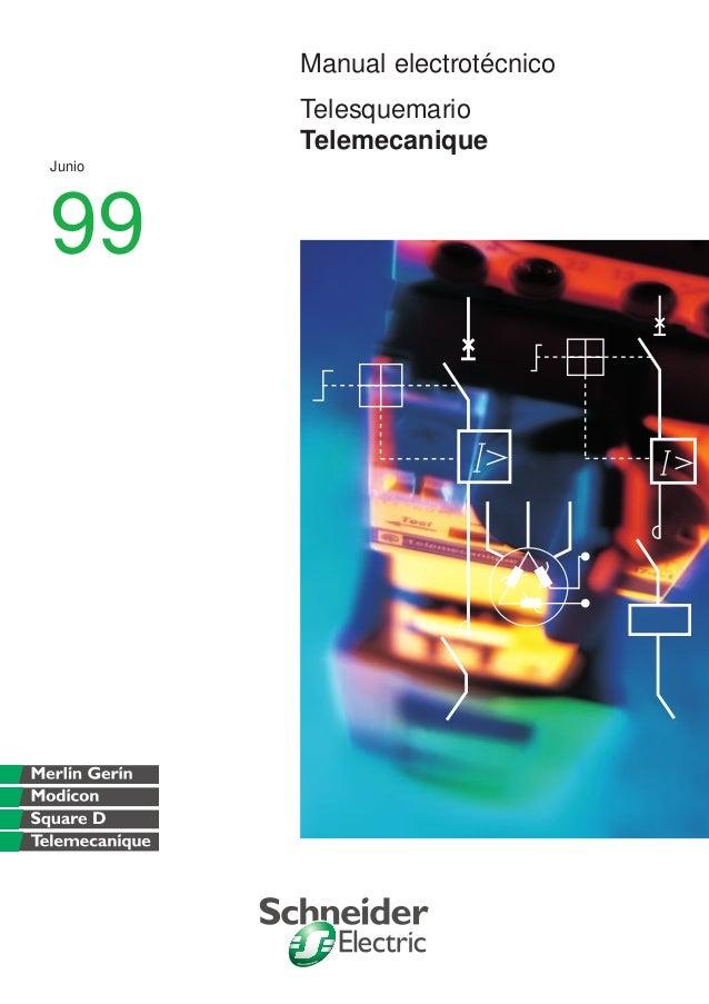 Manual electrotécnico Telesquemario Telemecanique Junio 99
