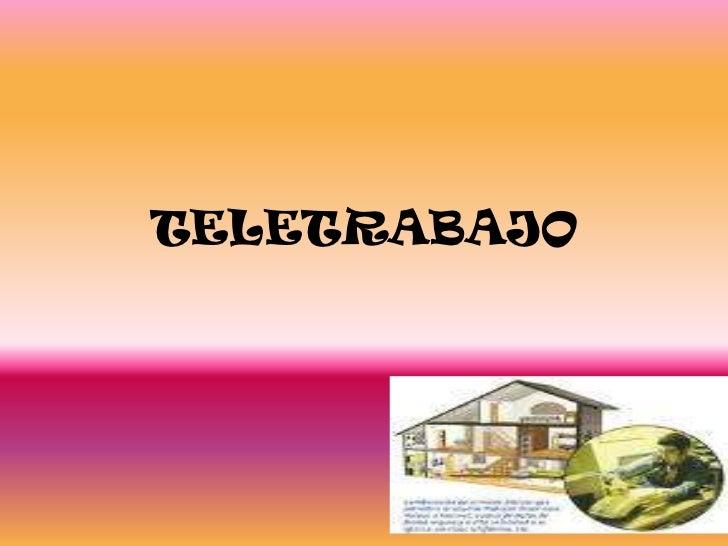 TELETRABAJO<br />