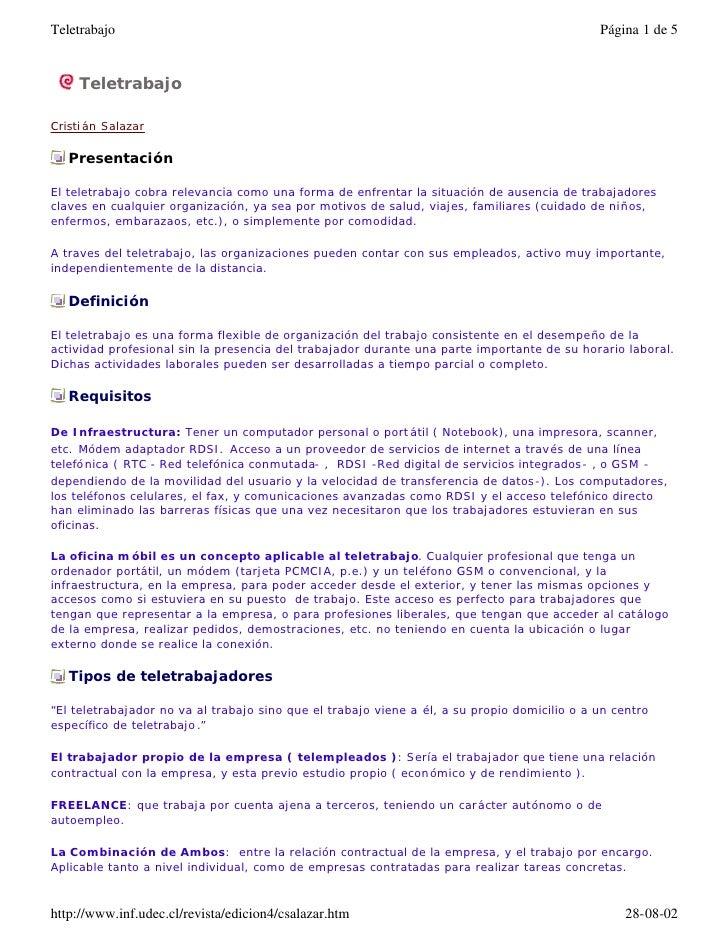 Teletrabajo                                                                                   Página 1 de 5     Teletrabaj...