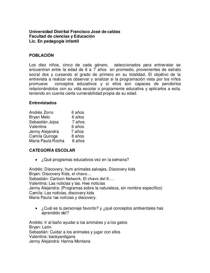 Universidad Distrital Francisco José de caldas<br />Facultad de ciencias y Educación<br />Lic. En pedagogía infantil<br />...
