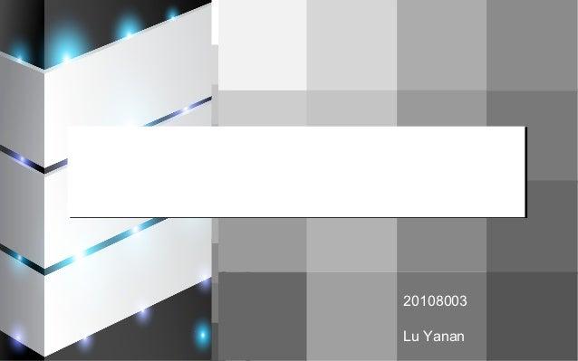Television             20108003             Lu Yanan
