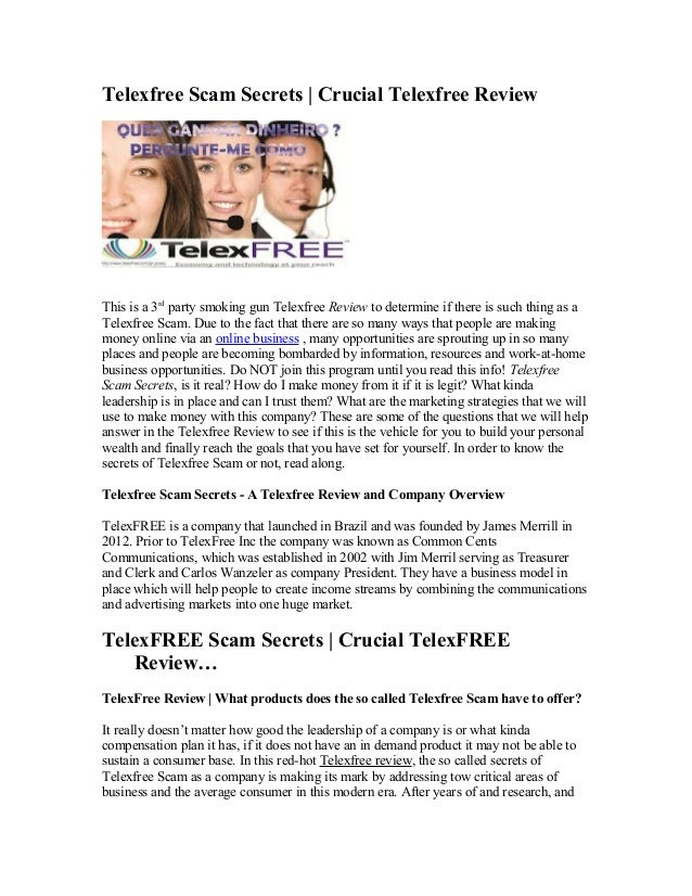 Telexfree Scam Secrets | Crucial Telexfree ReviewThis is a 3rd party smoking gun Telexfree Review to determine if there is...