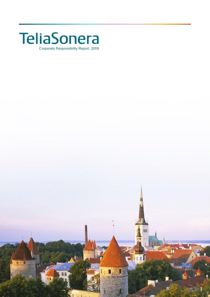 Telia sonera CR Report 2009