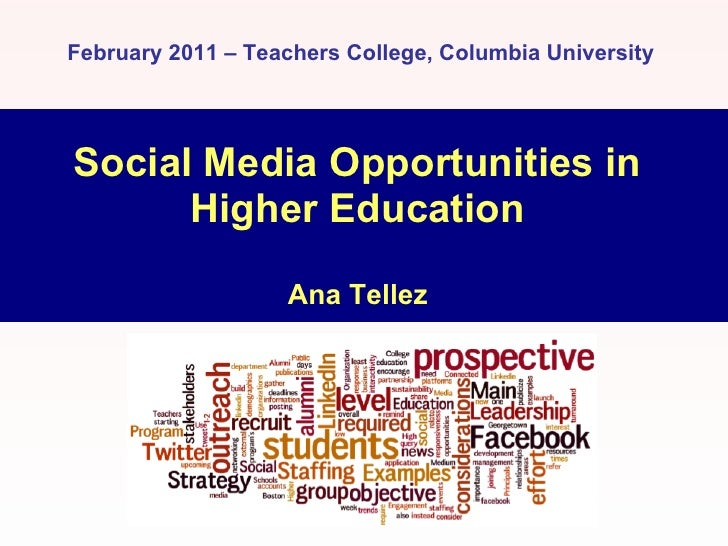 Social Media Classroom and Outreach Opportunities in Higher Education