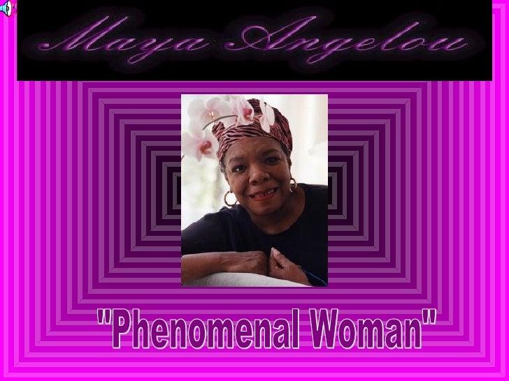 """Pg 1 """"Phenomenal Woman"""""""