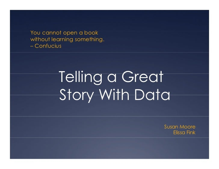 Telling Stories with Data