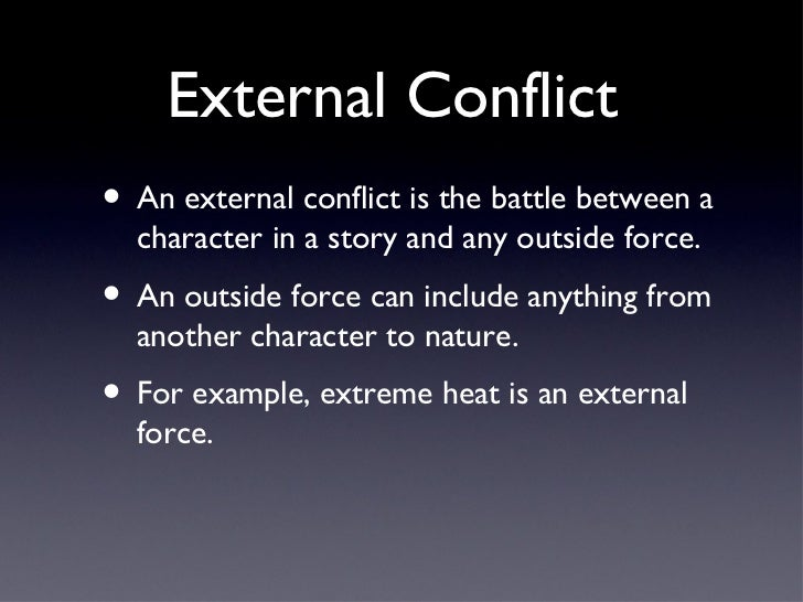 internal and external conflicts in the