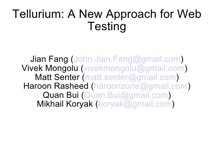 Tellurium.A.New.Approach.For.Web.Testing