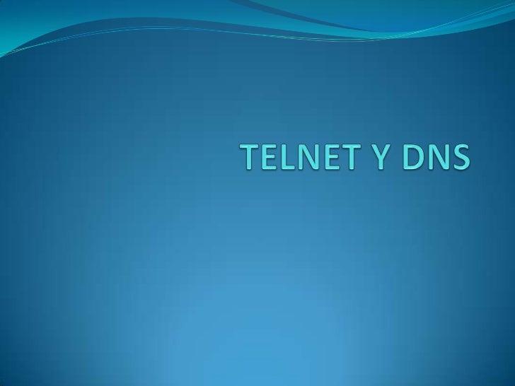 Telnet y dns