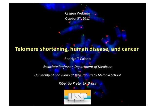 Qiagen  Webinar   October  5th,  2011    Telomere  shortening,  human  disease,  and  cancer   Rodri...