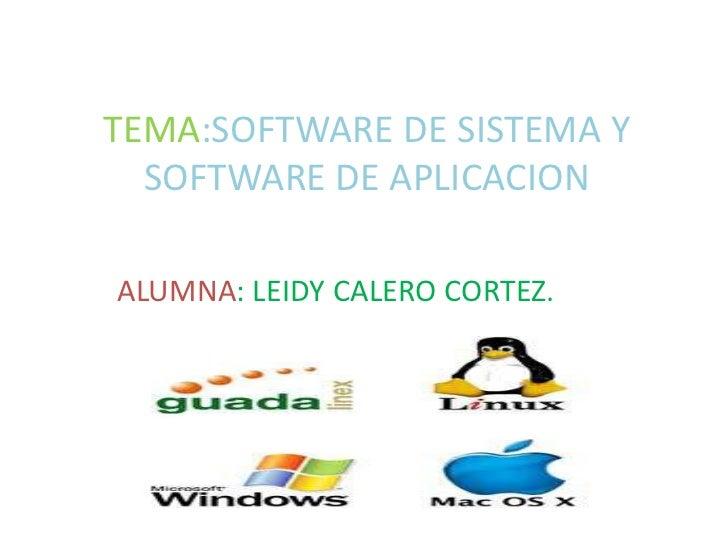 software de sistema y software de aplicacion