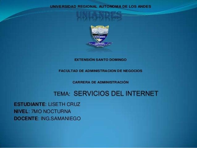 UNIVERSIDAD REGIONAL AUTONOMA DE LOS ANDES  UNIANDES  EXTENSIÓN SANTO DOMINGO  FACULTAD DE ADMINISTRACION DE NEGOCIOS  CAR...