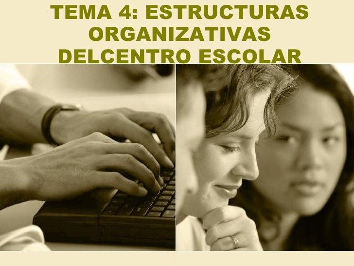 Tema 4 Estructuras Organizativas Del Centro Escolar
