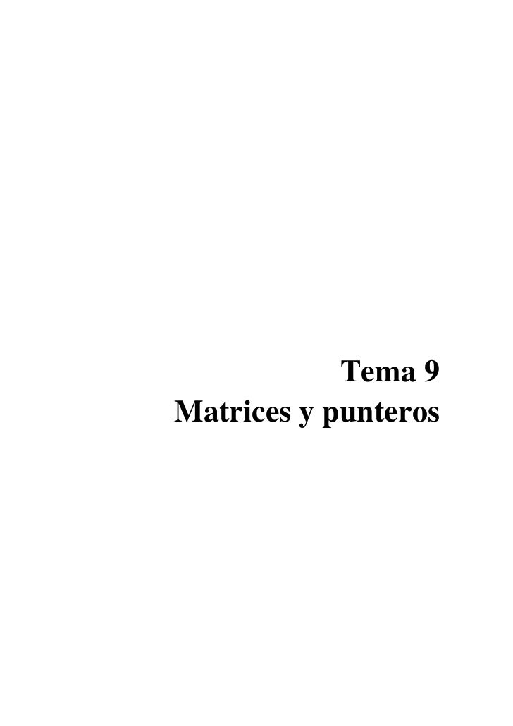 Matrices Y Punteros - Sergio Cabello