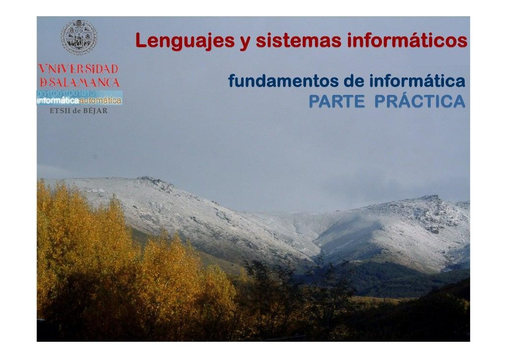 Lenguajes y sistemas informáticos                            fundamentos de informática ETSII de BÉJAR                    ...