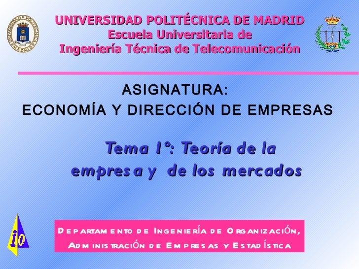 UNIVERSIDAD POLITÉCNICA DE MADRID        Escuela Universitaria de Ingeniería Técnica de Telecomunicación          ASIGNATU...