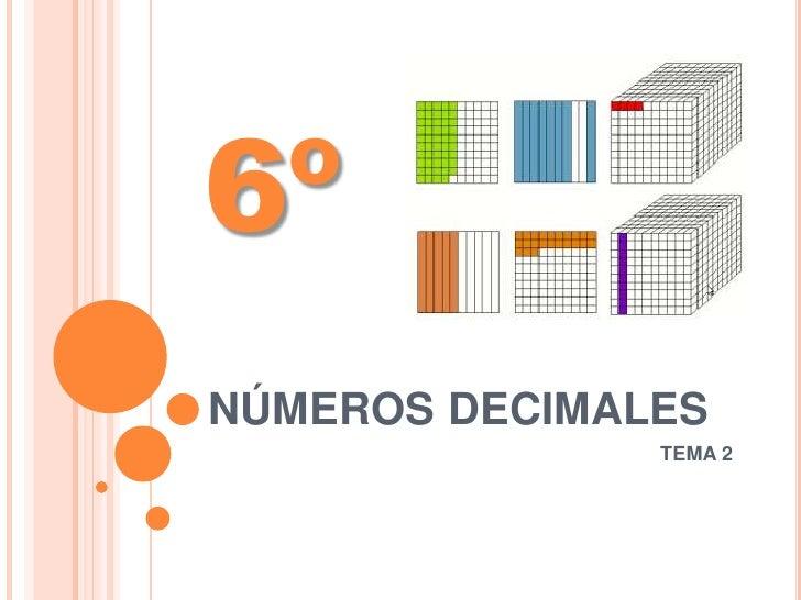 6ºNÚMEROS DECIMALES               TEMA 2
