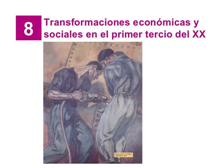Transformaciones económicas y8   sociales en el primer tercio del XX
