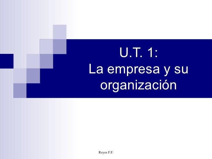 U.T. 1: La empresa y su organización