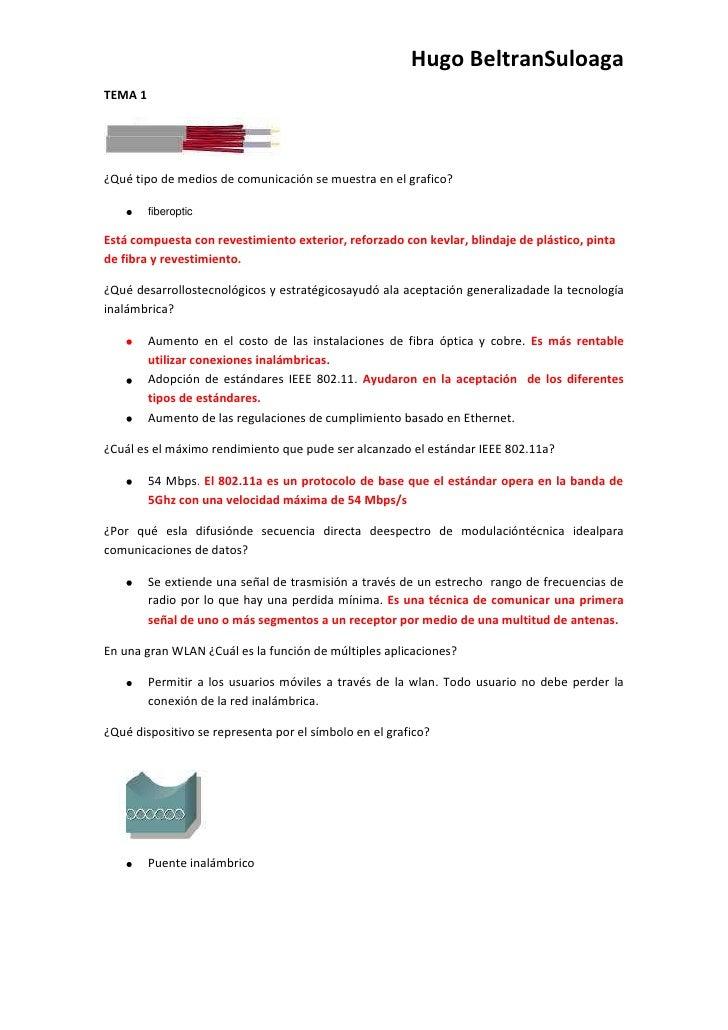Hugo BeltranSuloagaTEMA 1¿Qué tipo de medios de comunicación se muestra en el grafico?         fiberopticEstá compuesta co...