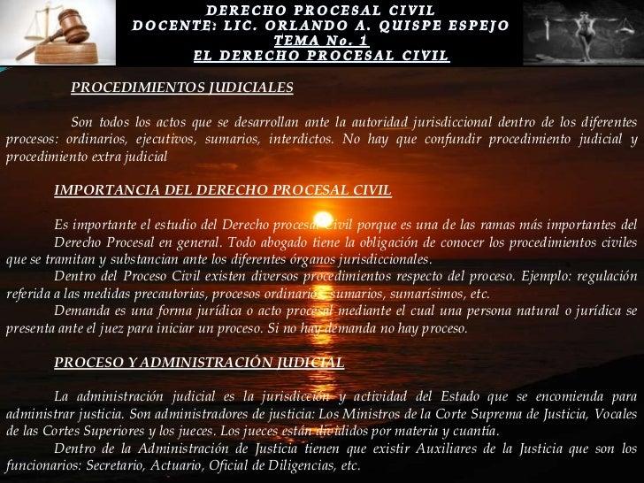 Tema 1 el derecho procesal civil for Que es un proceso extrajudicial