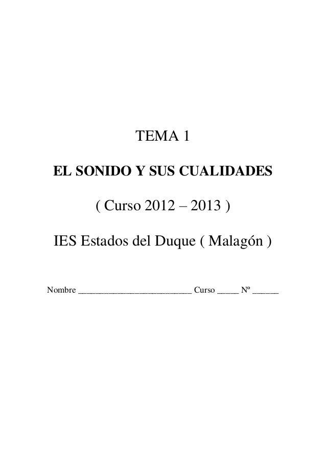 Tema1. el sonido y sus cualidades
