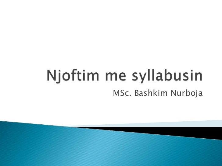 MSc. Bashkim Nurboja