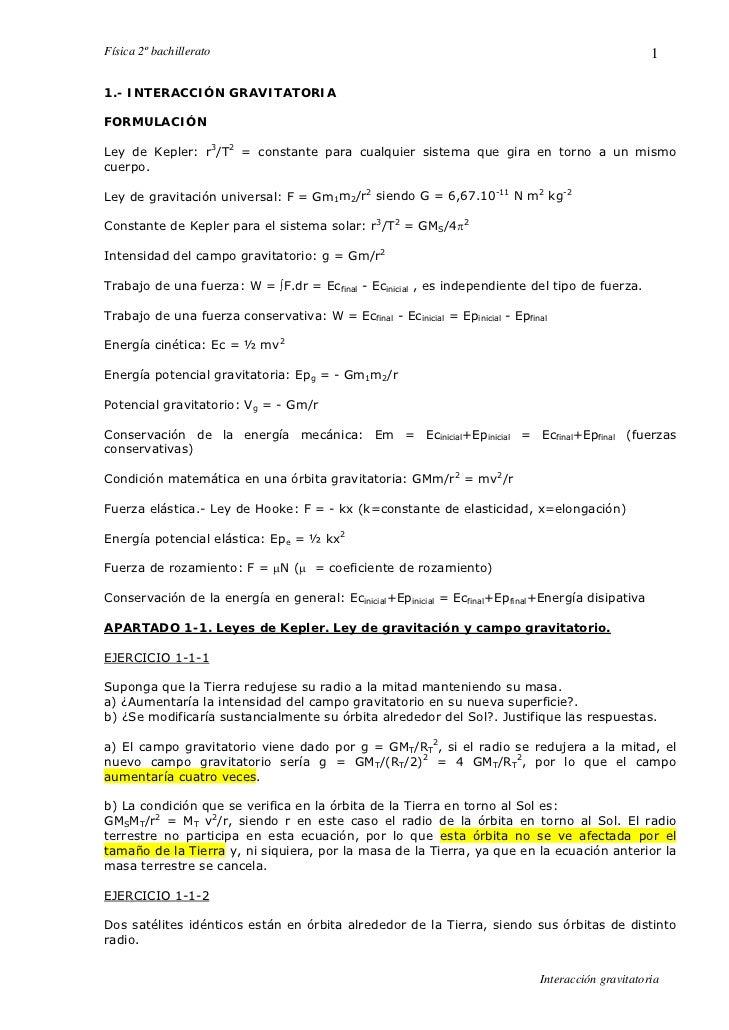 Física 2º bachillerato                                                                               1  1.- INTERACCIÓN GR...