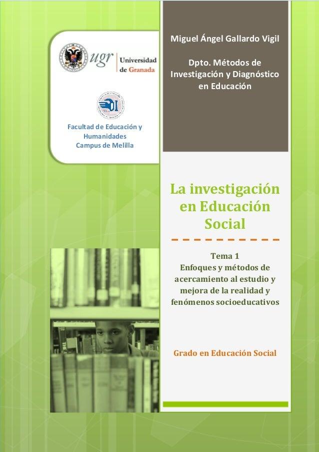 Tema 1   la investigación en educación social