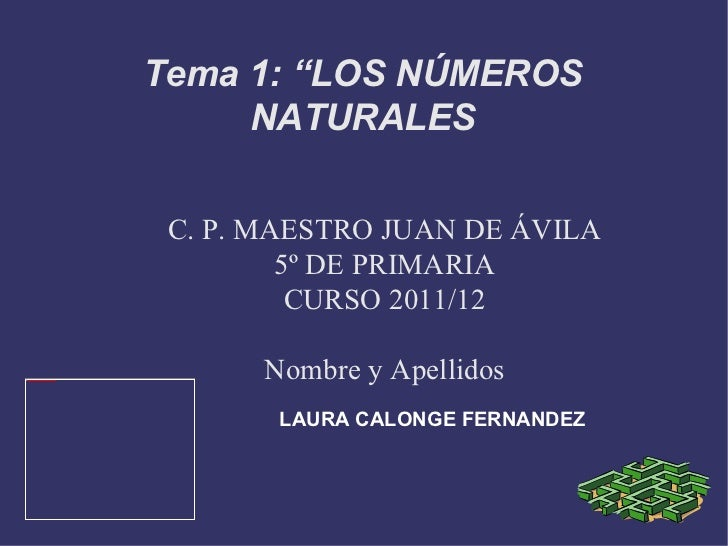 Tema 1. matematicas