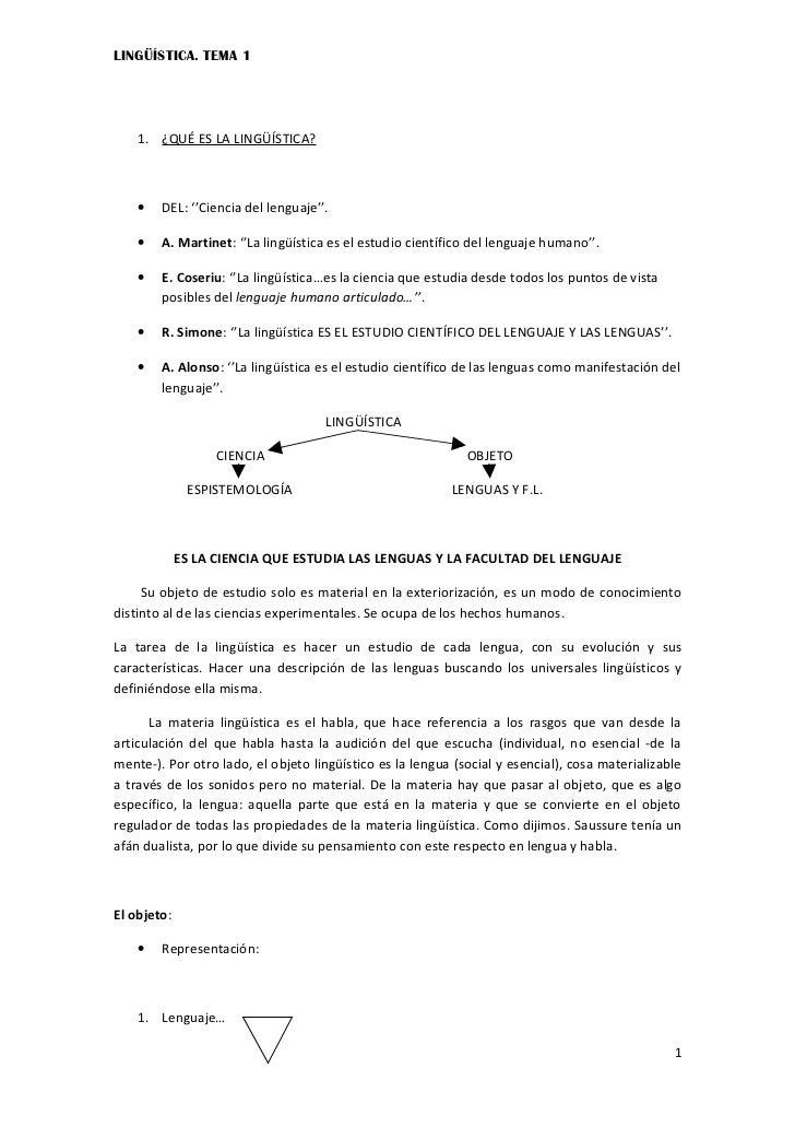Tema 1. qué es la lingüística