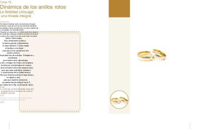 Tema 10 Dinámica de los anillos rotos La fidelidad conyugal: una mirada integral Nos conocemos Indicaciones De manera indi...