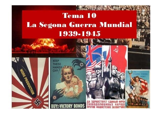 10. LA SEGONA GUERRA MUNDIAL 4ESO 2013-2014