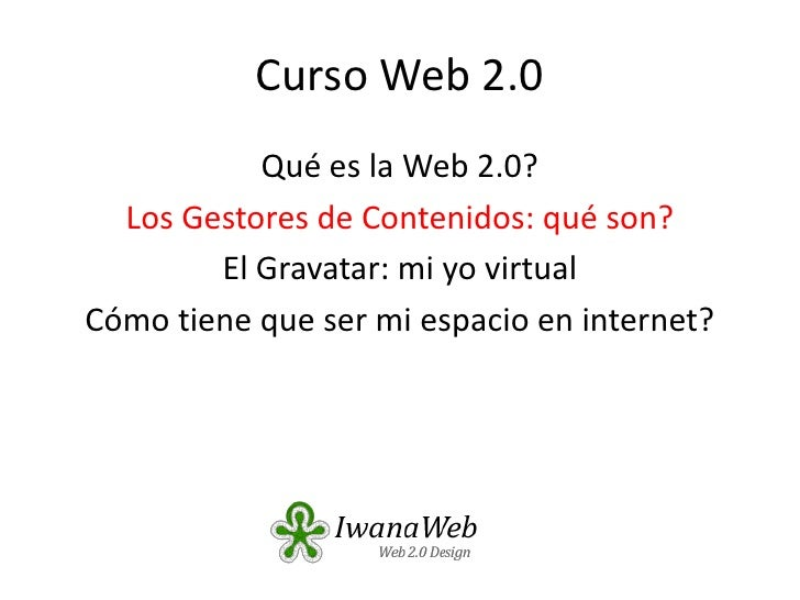 Curso Web 2.0: Tema 1.1
