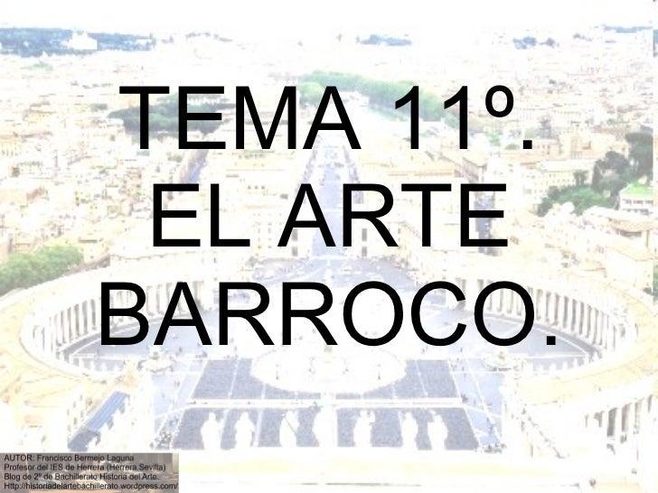 Tema 11º el arte barroco arquitectura en Italia y Francia