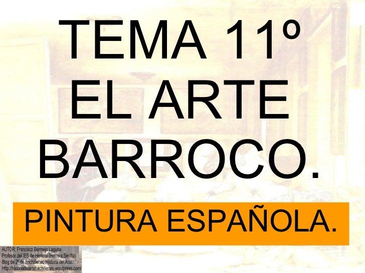 Tema 11º el arte barroco pintura española