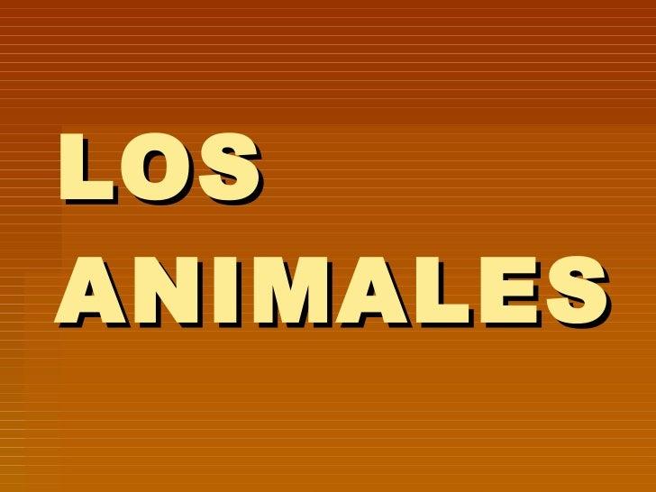 Tema 11 Los Animales
