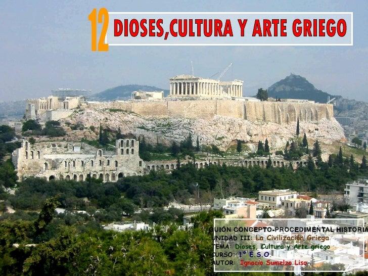 Dioses,cultura y arte griego