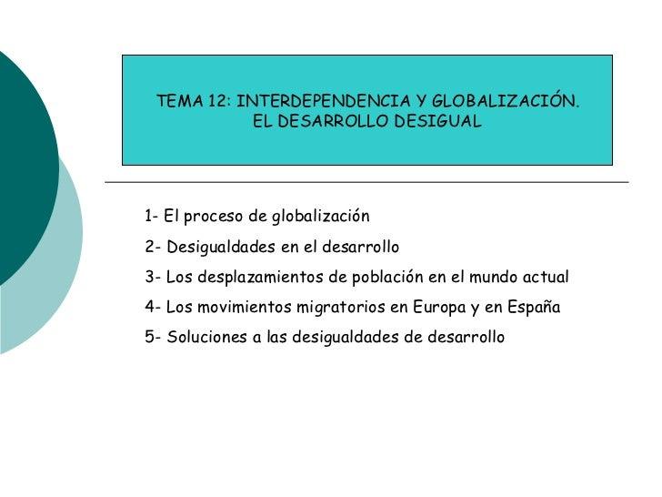 Tema 12 globalizacion