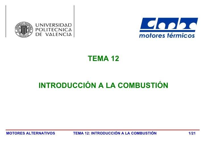TEMA 12 INTRODUCCIÓN A LA COMBUSTIÓN /21